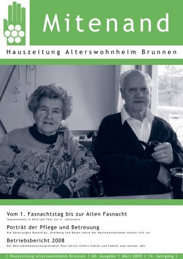 Hauszeitung Ausgabe Nr. 60 vom März 2009 - Brunnen