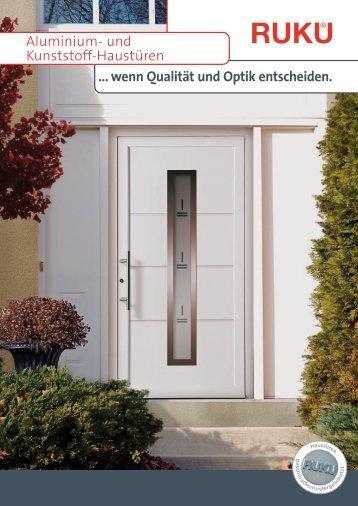 ... wenn Qualität und Optik entscheiden. Aluminium- und Kunststoff ...