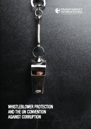 WHISTLEBLOWER PROTECTION AND THE UN CONVENTION AGAINST CORRUPTION