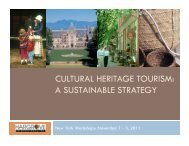 CULTURAL HERITAGE TOURISM A SUSTAINABLE STRATEGY
