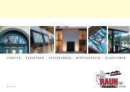 Imagebroschüre zum Downloaden - RAUH SR Fensterbau GmbH