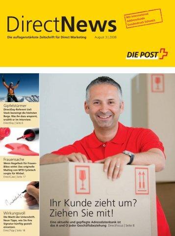 DirectNews August 3 / 2008 - Die Schweizerische Post
