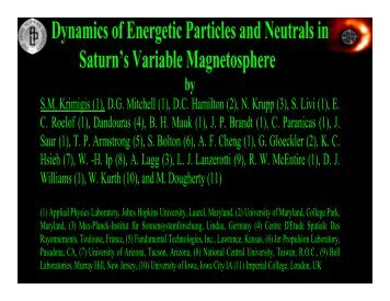 Saturn's Variable Magnetosphere