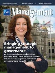 Bringing strategic management to governance