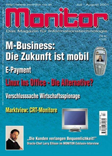 Die komplette MONITOR-Ausgabe 7-8/2001 können
