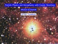 Particle Physics and Astrophysics with Cosmic Neutrinos