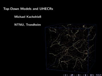 Top-Down Models and UHECRs