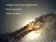Charged Cosmic Rays and Neutrinos
