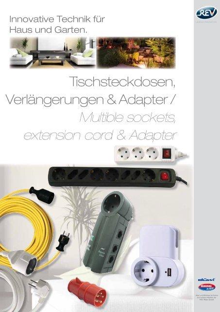 Düwi REV  Stecker Schutzkontaktstecker  braun