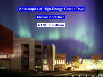 Anisotropies of High-Energy Cosmic Rays