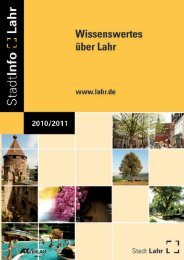 StadtInfo Lahr 2010/2011_Teil 1 (application/pdf) - Stadt Lahr