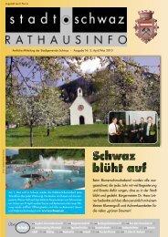 Rathausinfo März/April 2010 - Schwaz