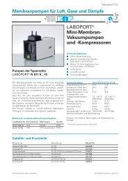 Mini-Membran- Vakuumpumpen und -Kompressoren - KNF Neuberger
