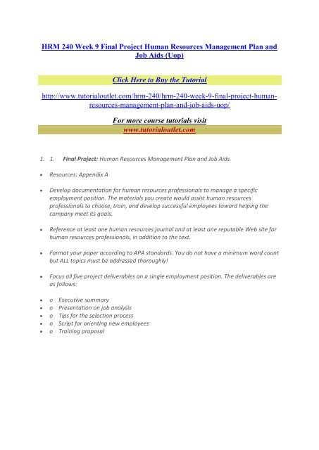 project human resource management plan sample