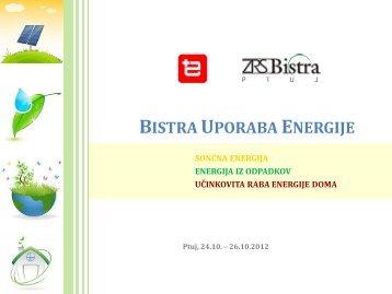 BISTRA UPORABA ENERGIJE