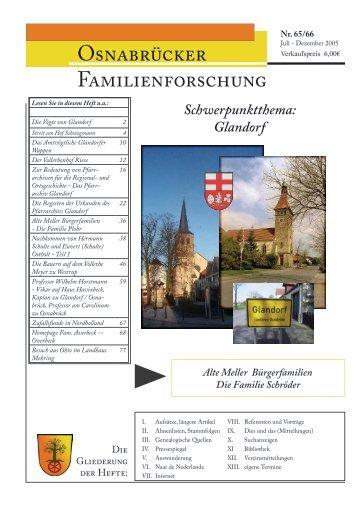 Heft 65-66 (Juli-Dez. 2005) - Arbeitskreis Familienforschung ...