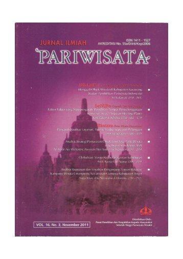 Jurnal Pariwisata - Departemen Agribisnis IPB