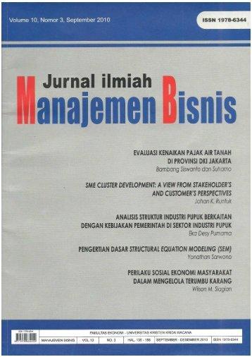 Jurnal Manajemen Bisnis (Suharno).pdf - Departemen Agribisnis IPB