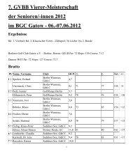 7. GVBB Vierer-Meisterschaft der Senioren/-innen 2012 im BGC ...