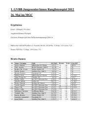 1. GVBB Jungesenior/innen Ranglistenspiel 2012 26. Mai im MGC