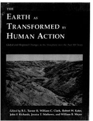 The Earth As Transformed Human Action