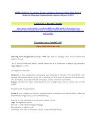 HRM 498 Week 3 Learning Team Assignment Strategic HRM Plan / Tutorialoutlet