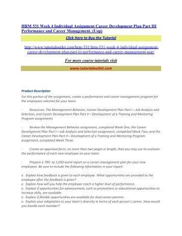 hrm 531 performance management plan limousine service