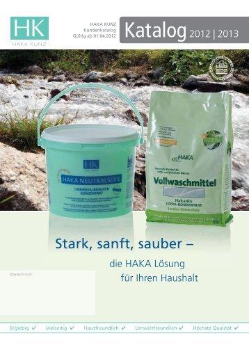Katalog 2012 Umschlag.indd - HAKA Kunz