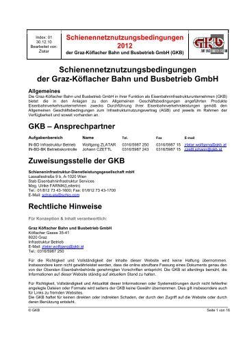 (SNNB) 2012 - bei der GKB!