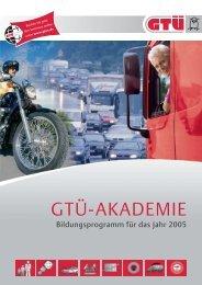 Bildungsprogramm 2005 Download (2.1 MB) - GTÜ