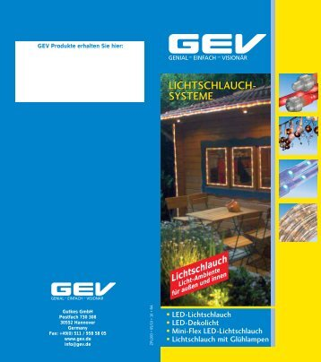 LICHTSCHLAUCH- SYSTEME LICHTSCHLAUCH- SYSTEME - GEV