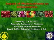 Impact of Phytonutrients on Inflammation