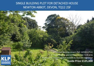 SINGLE BUILDING PLOT, NEWTON ABBOT, DEVON