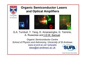 Organic Semiconductor Lasers and Optical Amplifiers
