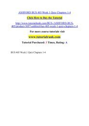 ASHFORD BUS 405 Week 1 Quiz Chapters 1-4  / Tutorialrank