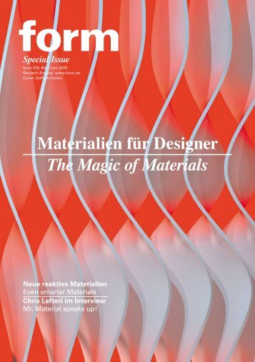 Materialien für Designer The Magic of Materials - Creative Industries ...
