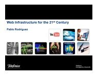 Web Infrastructure for the 21 Century