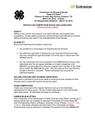 Tennessee 4-H Shooting Sports State 4-H Shoot Dickson County ...