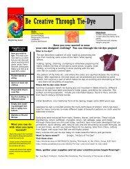 Be Creative Through Tie-Dye
