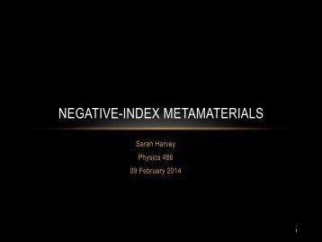 NEGATIVE-INDEX METAMATERIALS