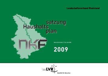 Teilfinanzplan - Landschaftsverband Rheinland