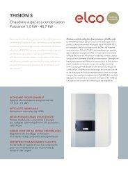 THISION S – Chaudière à gaz et à ... - ELCO Heating solutions