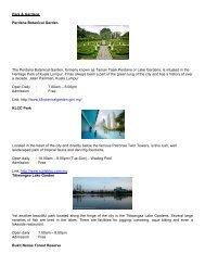 Park & Gardens Perdana Botanical Garden The Perdana Botanical ...