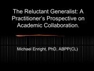 Practitioner's Prospective on Academic Collaboration
