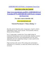 ASHFORD BUS 620 Week 1 Assignment Tesco Case  / Tutorialrank