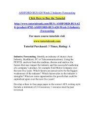 ASHFORD BUS 620 Week 2 Industry Forecasting  / Tutorialrank