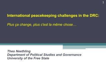 International peacekeeping challenges in the DRC