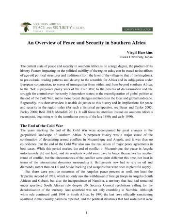 An Overview of Peace and Security in Southern Africa