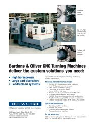 Bardons & Oliver CNC Turning Machines deliver the custom solutions you need