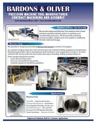 PRECISION MACHINE TOOL MANUFACTURER CONTRACT MACHINING AND ASSEMBLY